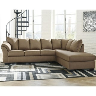 Darcy 2-Piece Sectional w/ Chaise Right Facing - Mocha