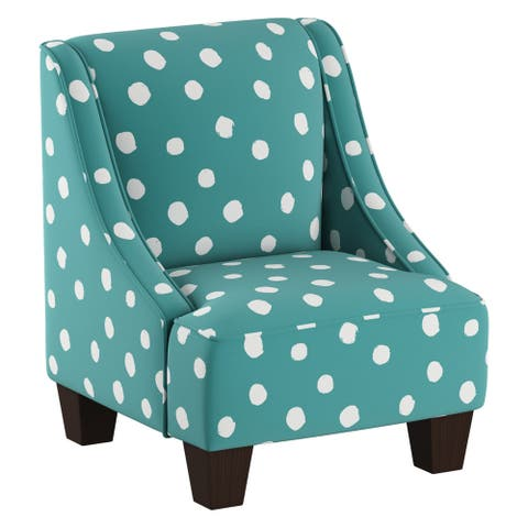 Skyline Furniture Kids Swoop Arm Chair in Painted Dot