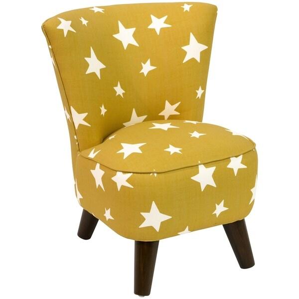 Skyline Furniture Kids Modern Chair in Stars Yellow
