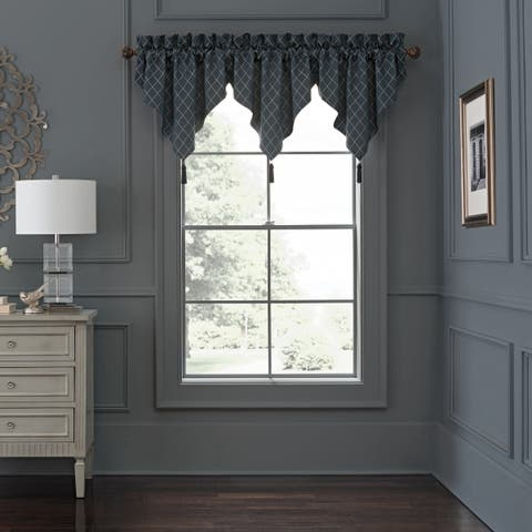 """Waterford, Everett Teal Ascot Valance - 18"""" x 40"""""""