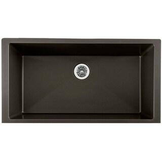 "Elkay Quartz Luxe 35-7/8"" x 19"" x 9"" Single Bowl Undermount Kitchen Sink with Perfect Drain - 35-7/8 x 19 x 9"