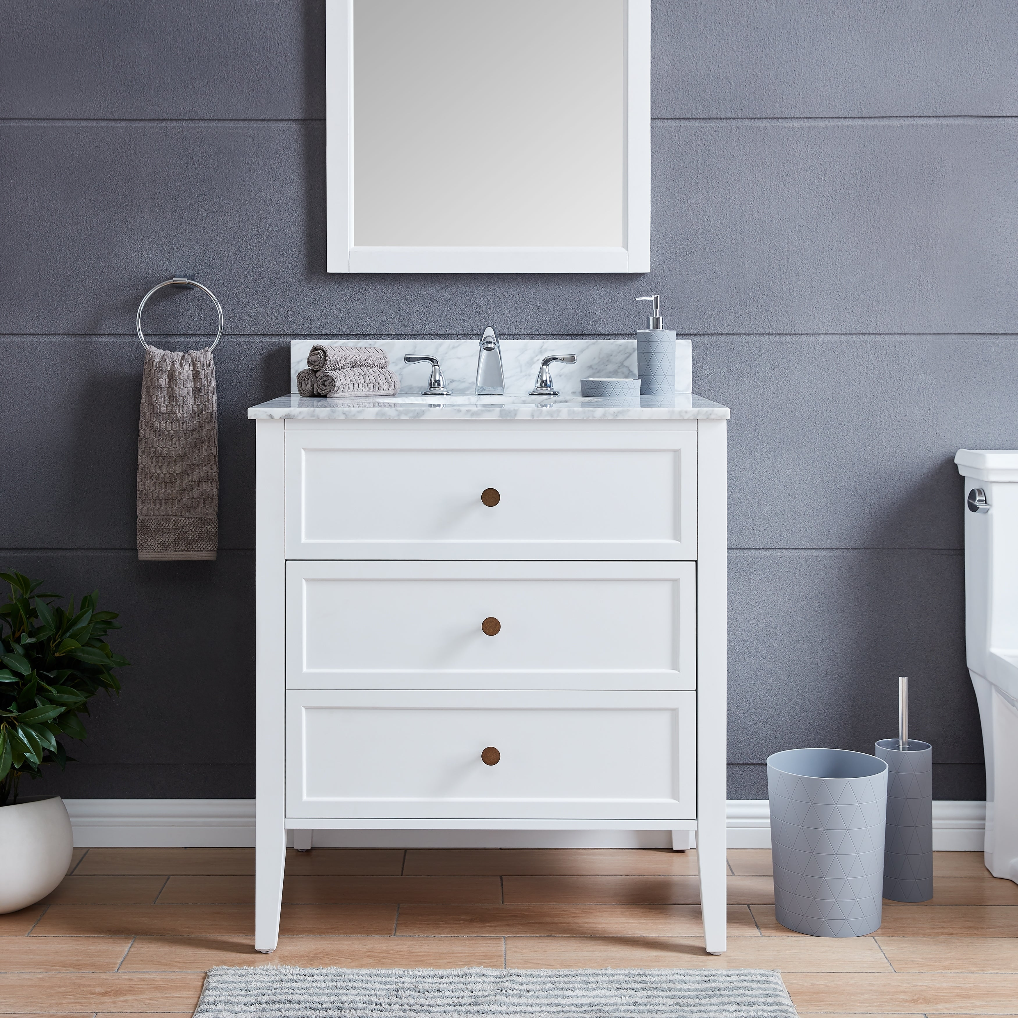 The Gray Barn Bentley Modern Farmhouse White Stone 30 Inch Vanity Sink Overstock 28860299