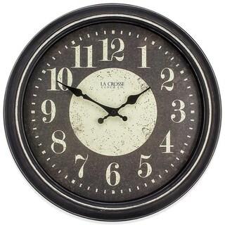 La Crosse Clock 404-2640 15.75 Inch Brooklyn Analog Quartz Wall Clock