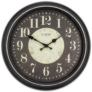 La Crosse Clock 404-2640 15.75 Inch Brooklyn Analog Quartz Wall Clock