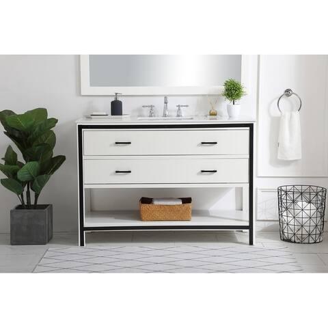 48 in. Single Bathroom Vanity in White