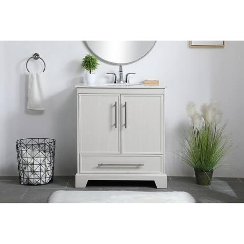30 in. Single Bathroom Vanity in White