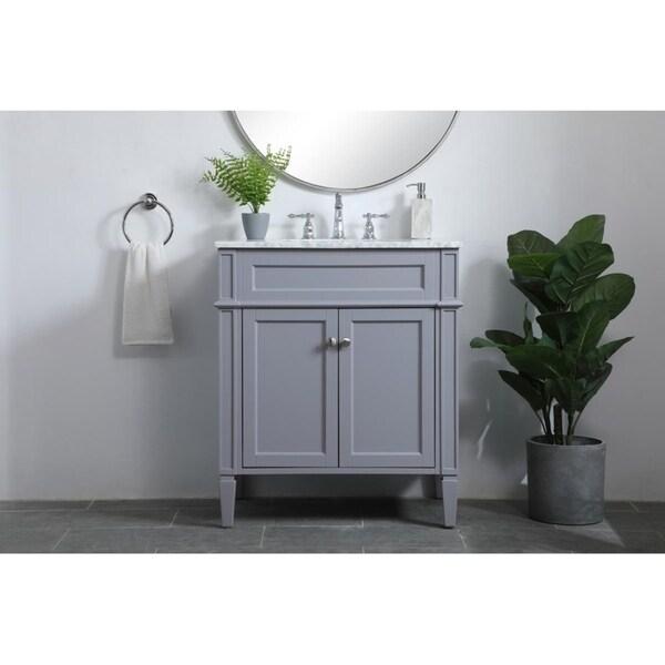 30 inch single bathroom vanity in Grey