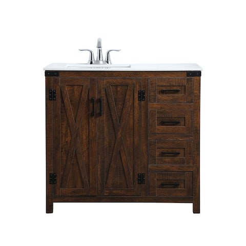 36 in. Single Bathroom Vanity in Espresso