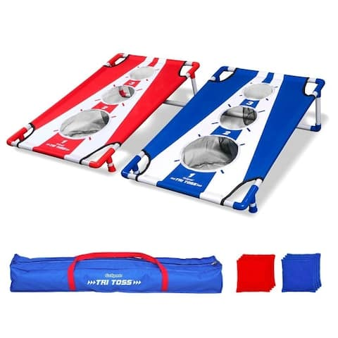 GoSports Tri Toss Cornhole Game - 3'x2'