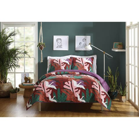 Makers Collective Paradisio Full/Queen Quilt Set, 3 pieces