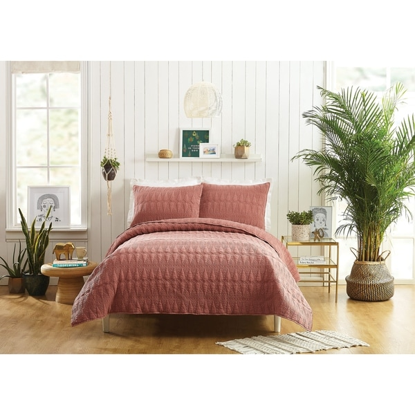 Makers Collective Kahelo Full/Queen Quilt Set, 3 Pieces