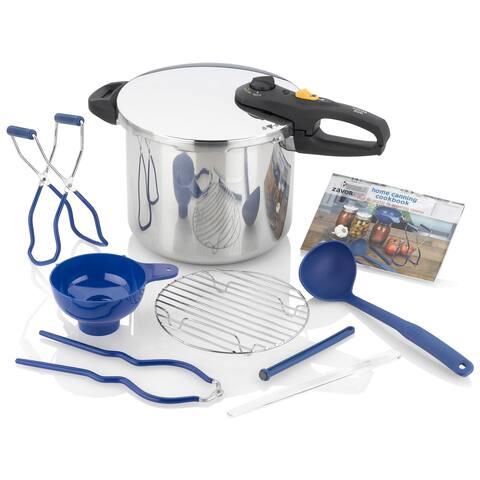 ZAVOR DUO 10 piece 10 Quart Pressure Cooker and Canning Set - 10 Quart