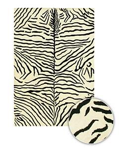 Artist's Loom Hand-tufted Contemporary Animal Print Wool Rug (7'9x10'6)