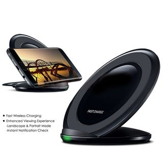 Link to Vertical Wireless Charger Fast Charge Pad Charging Stand Dock for Samsung Note S6 S7 Similar Items in Cell Phone Accessories