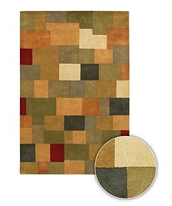 Handmade Contemporary Geometric Mandara Rug (8' x 11')
