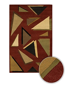 Artist's Loom Hand-tufted Contemporary Geometric Wool Rug (7'9x10'6) - 8' x 11' - Thumbnail 0