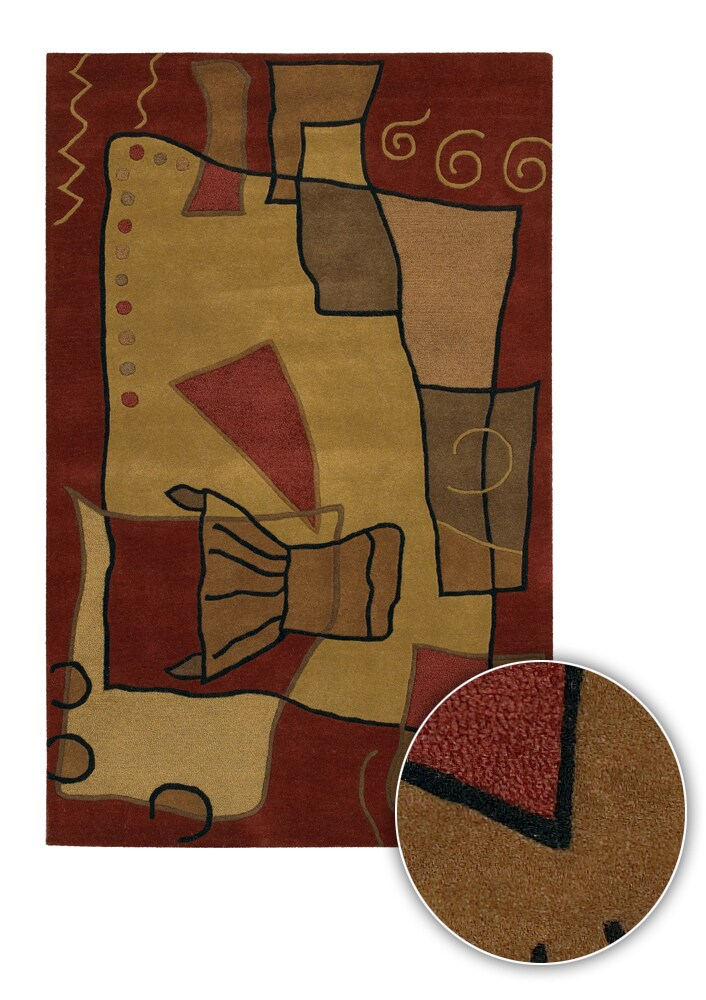 Artist's Loom Hand-tufted Contemporary Abstract Wool Rug - 8' x 11'
