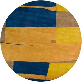 Hand-tufted Contemporary Mandara Rug (8' Round)