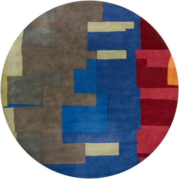 Hand-tufted Mandara Contemporary Wool Rug (8' Round)