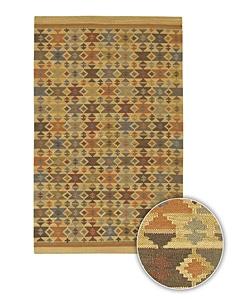 Artist's Loom Handmade Flatweave Country Oriental Wool Rug - 7'9x10'6 - Thumbnail 0