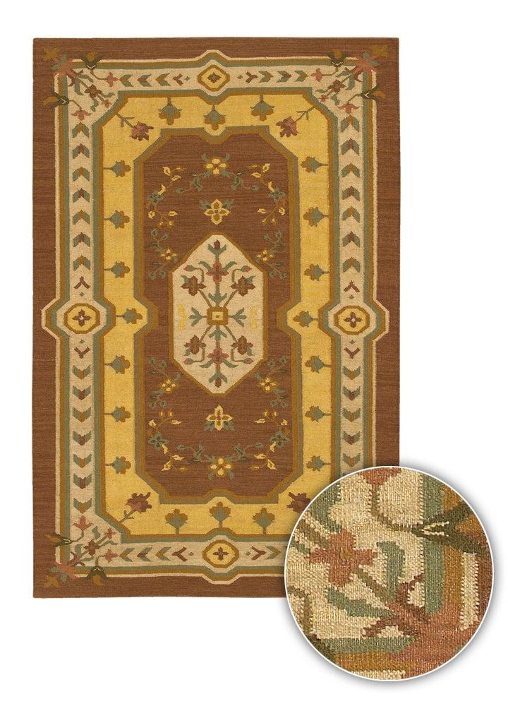 Artist's Loom Hand-woven Country Oriental Wool Rug (7'9x10'6) - 8' x 11'