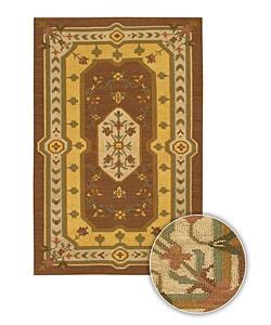 Artist's Loom Hand-woven Country Oriental Wool Rug (7'9x10'6) - 8' x 11' - Thumbnail 0
