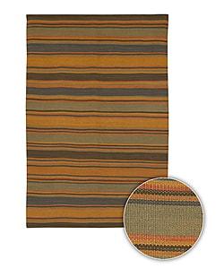 Artist's Loom Handmade Flatweave Casual Stripes Natural Eco-friendly Jute Rug - 7'9x10'6 - Thumbnail 0