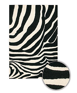 Artist's Loom Hand-tufted Contemporary Animal Print Wool Rug (7'9 Round)