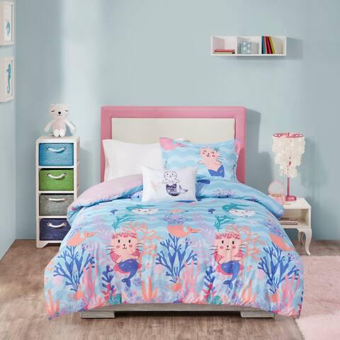 Mi Zone Kids Magical Waters Aqua/Pink Printed Comforter Set