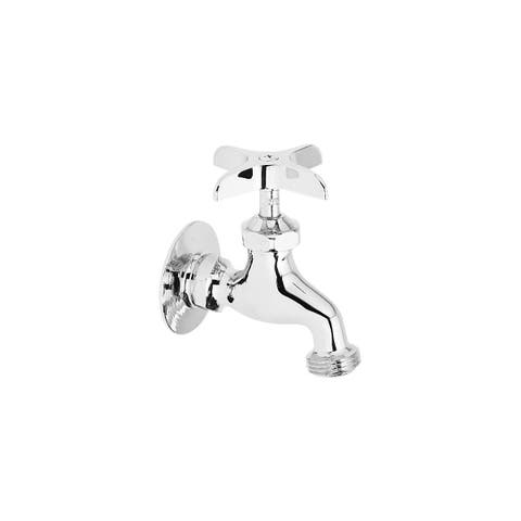 Elkay Commercial Service/ Utility Single Hole Wall Mount Faucet with Hose End Chrome