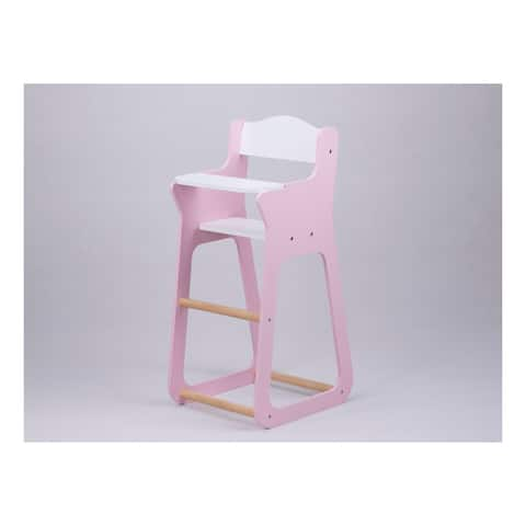 Moover Toys LINE Design Baby Doll Wooden High Chair in Pink