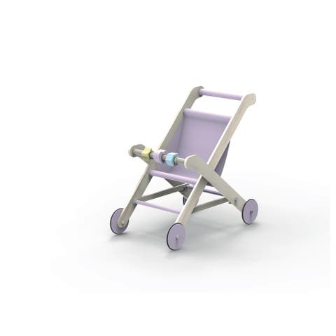 Moover Toys LINE Design Baby Doll Wooden Stroller in Purple