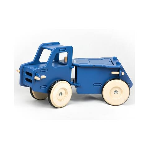 Moover Toys Wooden Foot-To-Floor Dump Truck - Blue