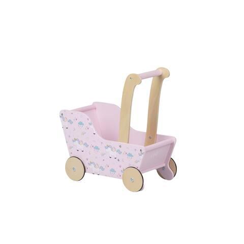 Moover Toys LINE Design Baby Doll Wooden Unicorn Pram