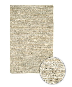 Artist's Loom Hand-woven Casual Reversible Natural Eco-friendly Leather Rug (9'x13')