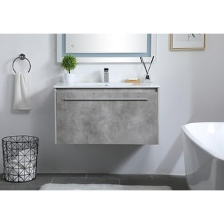 36 in. Single Bathroom Floating Vanity