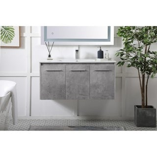 40 in. Single Bathroom Floating Vanity