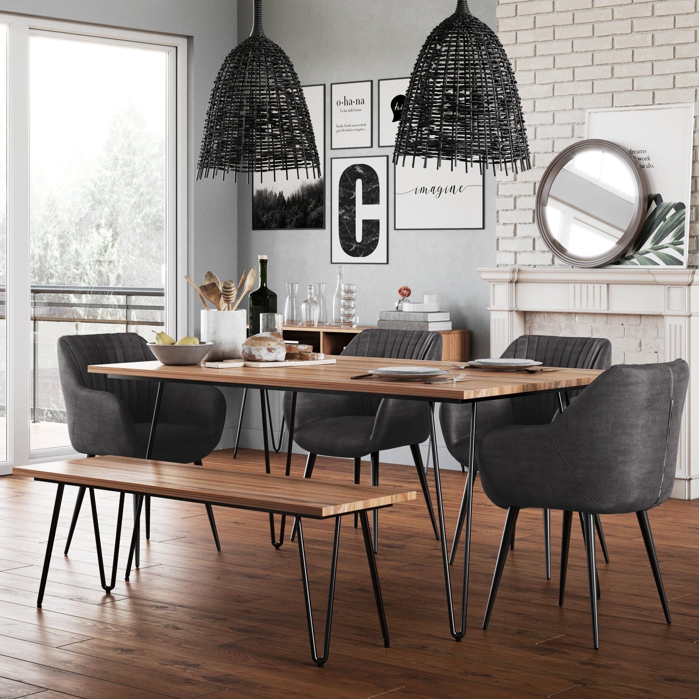 Wyndenhall Moreno Solid Mango Wood And Metal 66 Inch X 40 Inch Rectangle Industrial Contemporary Dining Table In Natural On Sale Overstock 28866437