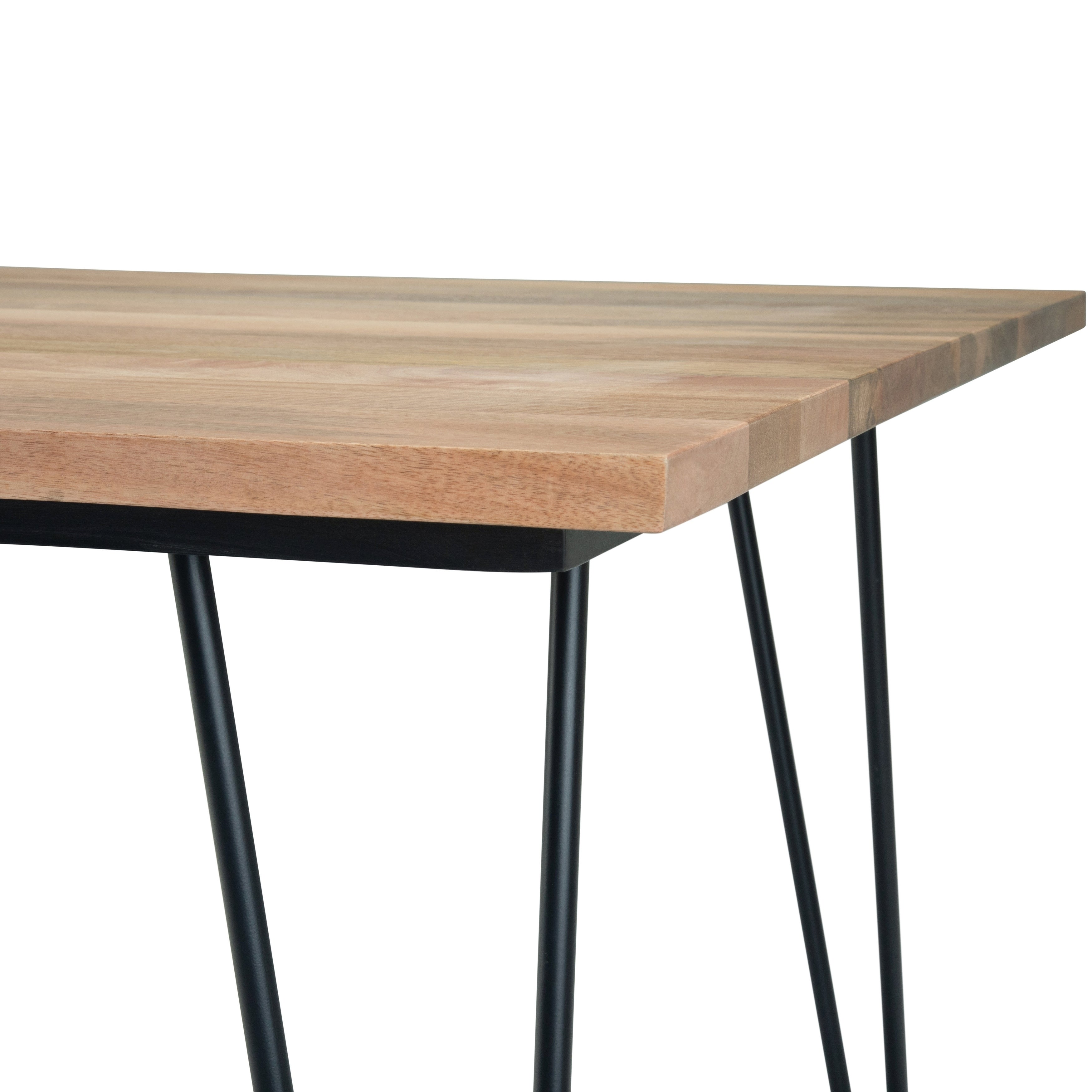 Wyndenhall Moreno Solid Mango Wood And Metal 66 Inch X 40 Inch Rectangle Industrial Contemporary Dining Table In Natural Overstock 28866437