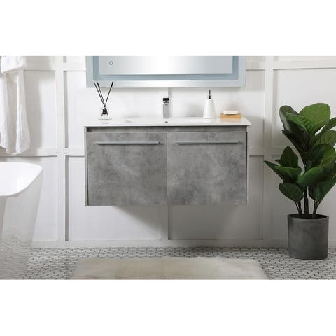 40 in. Single Bathroom Floating Vanity