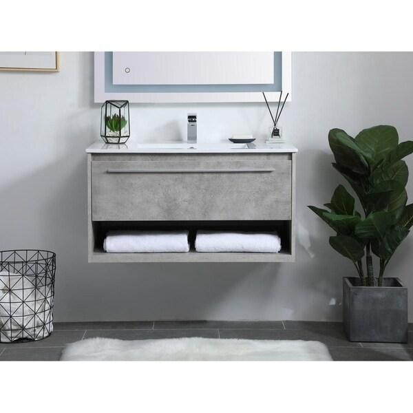 36 in. Single Bathroom Floating Vanity