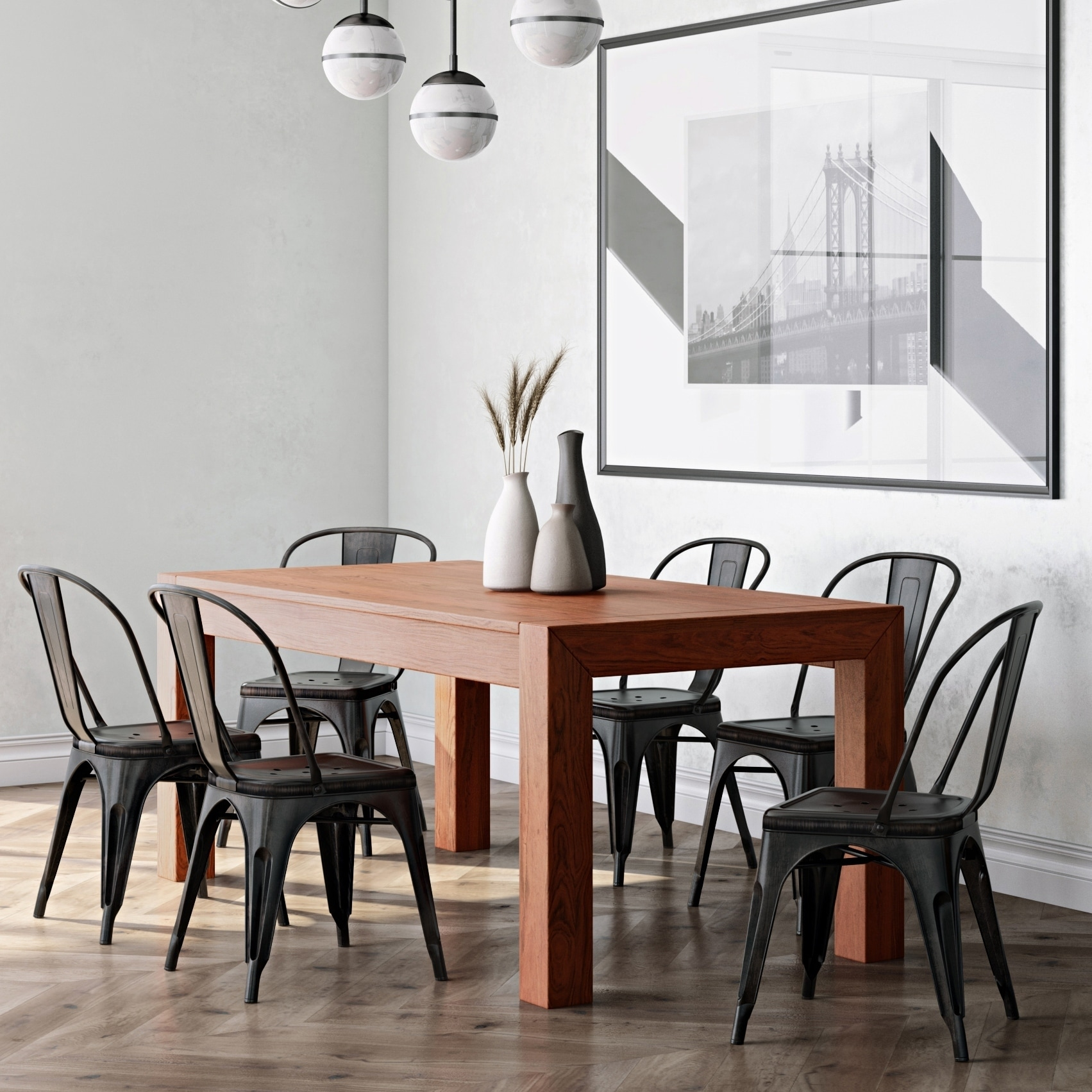 Wyndenhall Waldorf Solid Mango Wood And 72 Inch X 36 Rectangle Rustic Contemporary Dining Table In Cognac Brown