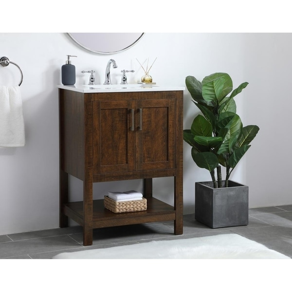 24 inch Single Bathroom Vanity in Espresso