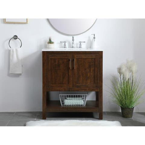 30 inch Single Bathroom Vanity in Espresso