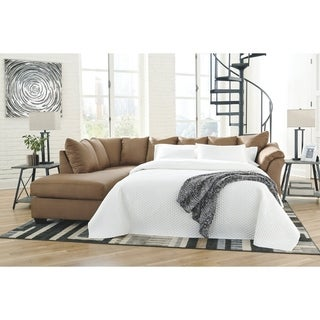 Darcy 2-Piece Sleeper Sectional w/ Chaise - Mocha