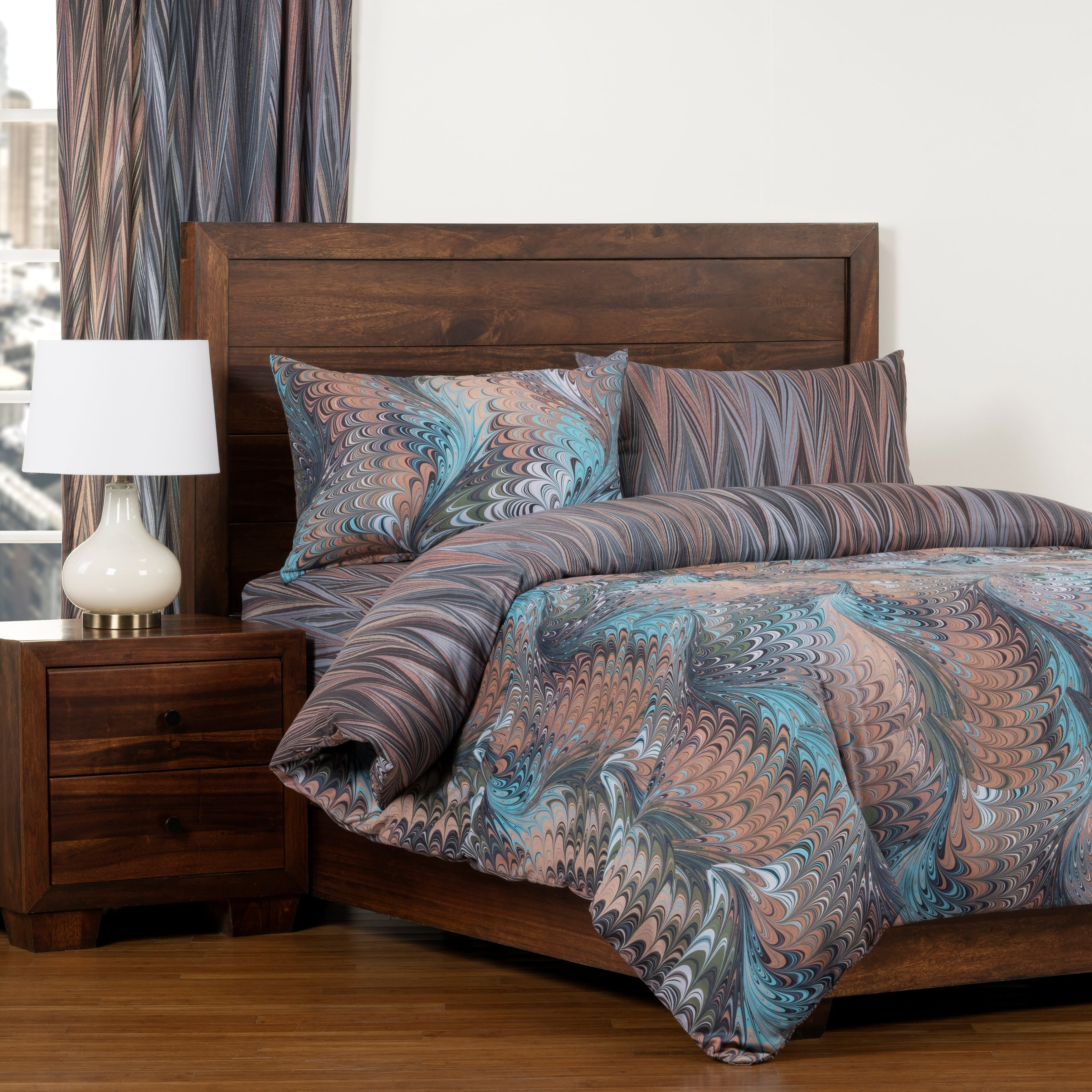 The Art Of Marbling Alluvium Aftershock Reversible Luxury Duvet Cover And Insert Set Overstock 28866605