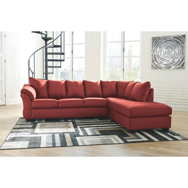 Darcy 2-Piece Sectional w/ Chaise Right Facing - Salsa