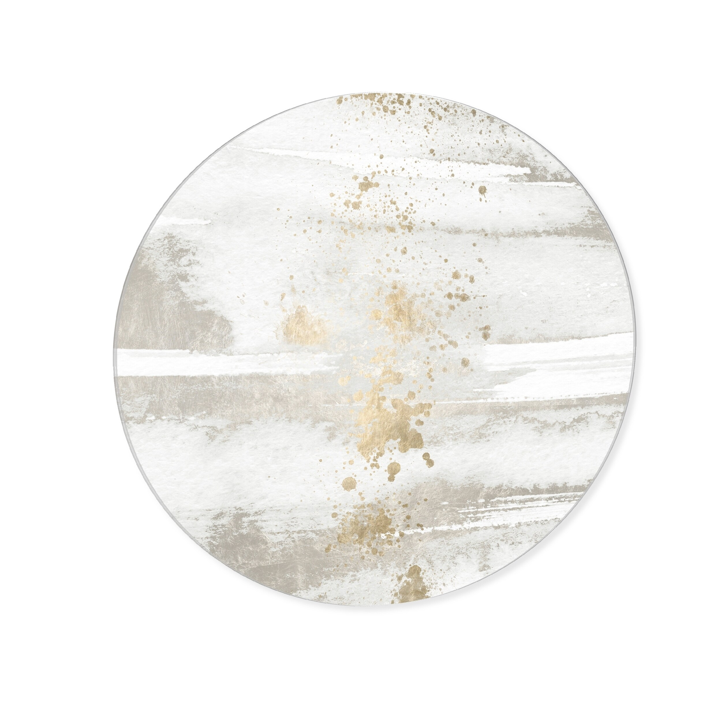 Oliver Gal Sun And Rain Circle Abstract Round Circle Acrylic Wall Art White Gold Overstock 28866709