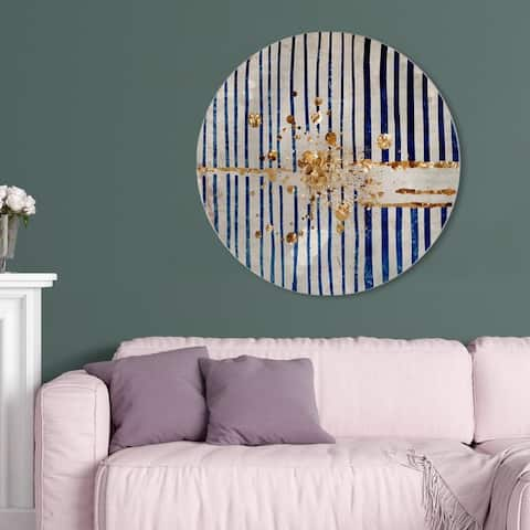 Oliver Gal 'Love Forcefield Round' Abstract Round Circle Acrylic Wall Art - Gold, Blue