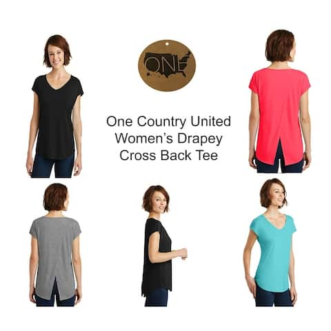 One Country United Women's Drapey Cross Back Tee
